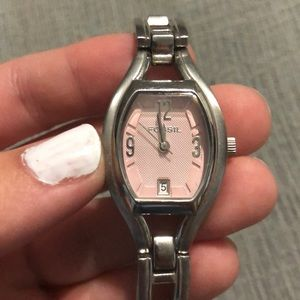 Pink faced Fossil Watch